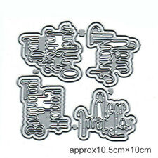 4 Set Cutting Dies Cutting Stencil DIY Embossing Scrapbooking Paper Card Making#