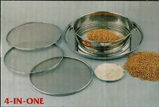 Flour Sifter Sieve -Stainless Steel Sieve 4pc -SuperFine,fine,medium,course 25cm