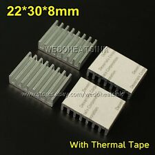 5pcs 22x30x8 mm DIY Cooling Heatsink Aluminium Profile Cooler With Thermal Tape