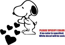 "Vinyl Decal Sticker - Snoopy Love Hearts Car Truck Bumper Window Wall JDM Fun 6"""