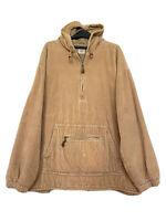 Vintage Gap Men's XXL Corduroy Kangaroo Pocket Jacket Hoodie Tan Super Dope