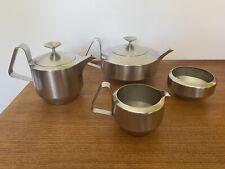 More details for robert welch - old hall- alveston - 4 piece tea set retro vintage stainless