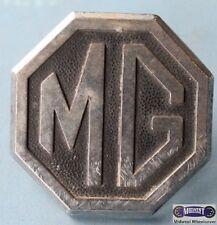 "MG- VINTAGE,USED  HEXAGON CENTER CAP, BLACK & SILVER METAL, 2 PEG POST, 2"" DIA,"