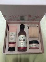 The Body Shop Vitamin E Gift Set Face Wash 125ml Toner 250ml Moisture Cream 50ml