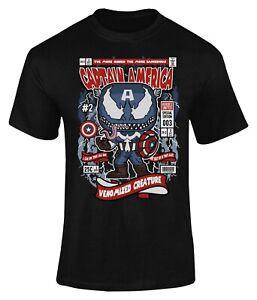Captain Venom Comic Poster T-Shirt Adults Novelty Shirt Top Gift For Men & Women