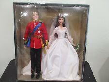 Barbie Collector William & Catherine Kate Royal Wedding Giftset Gold W3420 NEW