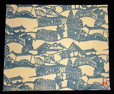 1960s Japanese Woodblock Print Farmhouses Inagaki Toshijiro (1902-1963)(Fuj)