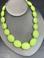 Vintage Spring  Green Lucite Large Beaded  Strand  Bib Statement Necklace 16""