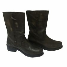 Diesel Men's Side Zip Distressed Leather Mid Calf Boots Size 44 US 10.5