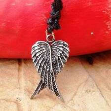 Angel Wings of Life Pewter Pendant Charm and Cotton Necklace Free Shipping #1730