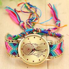 Vintage Womens Native Handmade Quartz Watch Knitted Dream Catcher Friendship