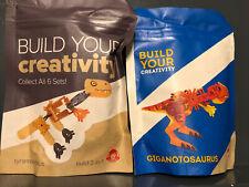 Build Your Creativity Giganotosaurus 2019 & Tyrannosaurus/helicopter 2016 Wendys