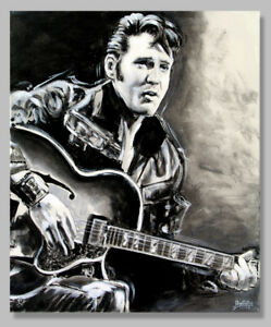"""Painted Stars As Art Graphic, Graphic, """" """" Elvis Picture, Signed, Limited,"""