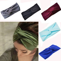 Girls Hair Accessory Knot Head Wrap Yoga Hairband Cotton Turban Cross Headband