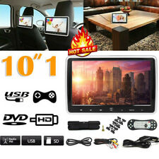10.1 Inch Car Headrest DVD Player Auto Monitor Video Game FM IR TouchButton UK
