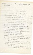 JULES DECAMP GENERAL REMERCIEMENTS AU PREFET POUR SA DECORATION HIRSON  1936