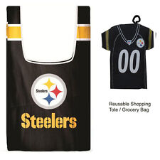 New Jersey Style NFL Pittsburgh Steelers Reusable Shopping Tote Grocery Bag