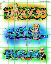 6043 DAVE'S DECALS GRAFFITI GIRLS URBAN BOX CAR TRAINS WALL FREE SHIPPING