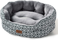 Bedsure Small Dog Bed & Cat Bed, Round Pet Beds for Indoor Cats or Small Dogs