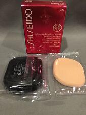 Nib Shiseido Advanced Hydro-Liquid Compact Refill d20 Rich Brown Spf 15