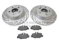 MERCEDES VITO 2004-2014 REAR DRILLED & GROOVED BRAKE DISCS AND MINTEX PADS