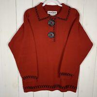Vintage DVF Diane Von Furstenberg Womens Red Size Large Wool Blend Sweater