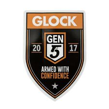 "Genuine Glock Gen 5 Armed with Confidence Shield  4"" Sticker"
