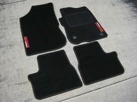 Black Car Mats to fit Peugeot 208 GTI (2012 on) + Peugeot Sport Logos (x2)