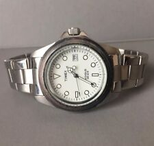 Timex Submariner Pepsi Style Rare Men's Indiglo Watch SS Band-Please Read