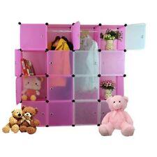 Tupper Cabinet 16 Cubes White Doors Pink DIY Storage Cabinet (Pink)