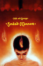SINEAD O'CONNOR 2000 ORANGE FAITH AND COURAGE POSTER ORIGINAL