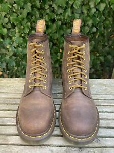 Dr Martens 1460 Gaucho Crazy horse Brown Leather Ankle Boots Size UK 7 EU 41 #01