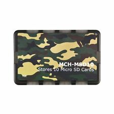 10 Micro SD Holder Memory Card Protective Storage Case Write/Label Camouflage