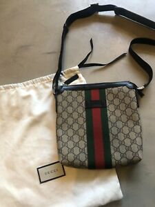 Gucci Web GG Supreme Messenger Bag Beige/Ebony