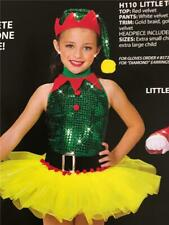 DANCE COSTUME CHRISTMAS  PIXIE ELF PAGEANT SKATE PARADE JAZZ TAP