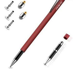 MEKO 3rd Gen 2-in-1 Stylus Pen Disc Style Touch Screen Pen 5 Tips iPad Tablet