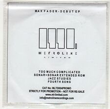 (GE848) Max Fader, Too Much Complicated (Debut EP) - DJ CD