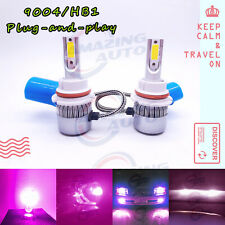 9004 HB1 LED Headlight Bulbs Kit High Low Beam Upgrade Lamp 65W 14000K Purple