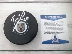 Tomas Nosek Signed Las Vegas Golden Knights Hockey Puck Beckett BAS COA c