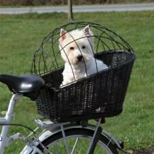 Bicycle Dog Basket Trixie Rear Mounted Bike Wicker Carrier Outdoor Travel Cat Sm