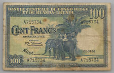 Belgian Congo Ruanda Urundi 100 francs 01-07-1952