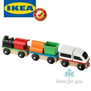 IKEA LILLABO 3 Piece Wooden Train Set