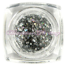BF Argent Grand PAILLETTES ART ONGLES GEL UV Fort BRILLANT HAUT Acrylique Vernis