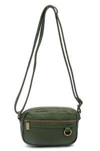 Vegan Leather Mini Crossbody Bag Wallet Purse The Caroline by Ampere Creations