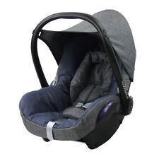 BAMBINIWELT Ersatzbezug 6tlg. Maxi-Cosi CABRIOFIX Babyschale MELIERT GRAU/MARINE