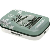 Retro Tin Metal Pill Box VW KOMBI w Mints 6x4cm BULLI Combi Licensed Product
