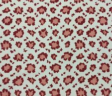 "SCHUMACHER WILLAMSBURG RANDOLPH LEOPARD RUBY RED #D4039 Fabric BY YARD 54""W"