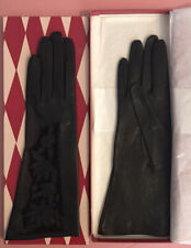 New listing Women's Small Leather Gloves with Cut Out Flower Design with Original Box