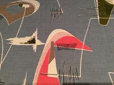 "vintage 1950s Fothergay fabric mid century modern atomic amoebic 22""/56cm square"
