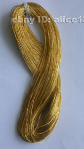 65M Chinese handmade embroidery gold floss/thread